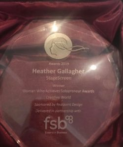 Heather Gallagher Solopreneur award