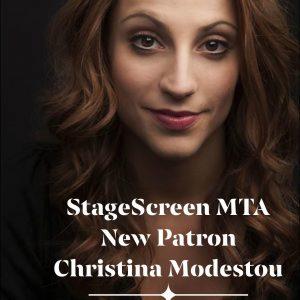 Christina Modestou is patron of StageScreen MTA