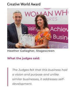 Heather Gallagher receives award