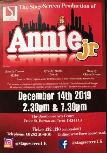 Annie Jr poster by StageScreen