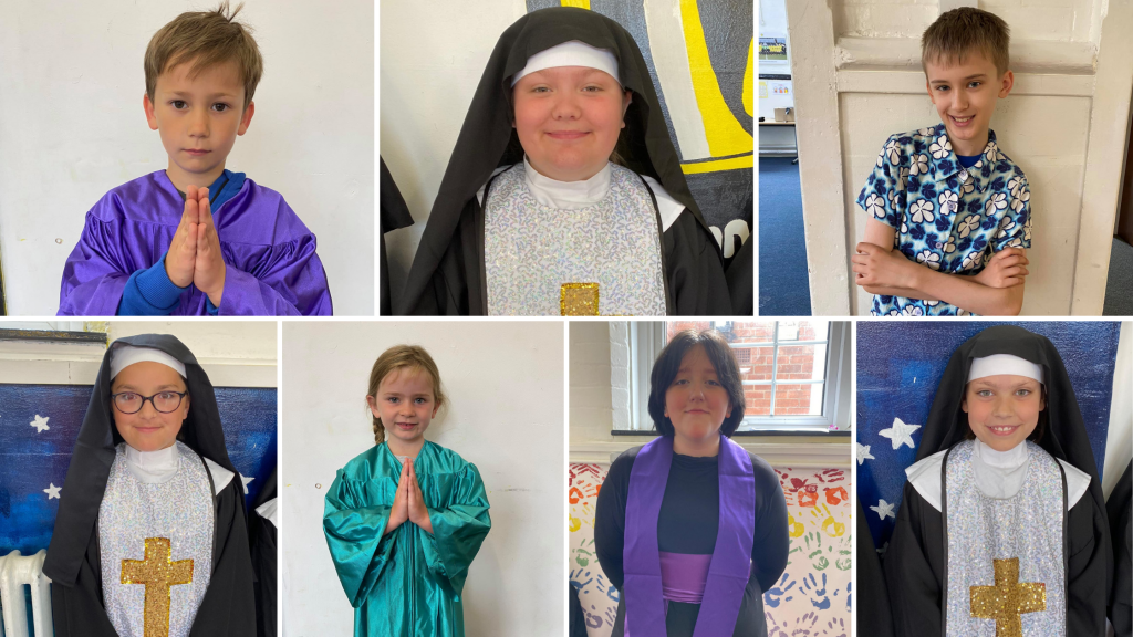 Cast members of Sister Act Jr by StageScreen, Burton-on-Trent